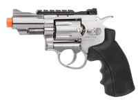 Black Ops / WG CO2 Airsoft Revolver, Chrome, 2.5""