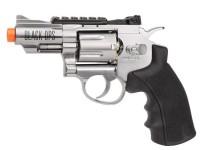 Black Ops / WG CO2 Airsoft Revolver, Silver, 2.5 inch Airsoft gun