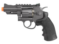 Black Ops / WG Metal CO2 Airsoft Revolver, Black, 2.5 inch Airsoft gun