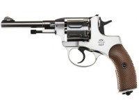 Gletcher Nagant  NGT F CO2 BB Revolver, Silver Air gun