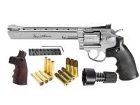 Dan Wesson 8 inch Dual Ammo, Dual Grip Revolver, Silver Air gun