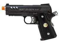 WE Baby Hi-Capa 3.8 GBB Airsoft Pistol, Black Airsoft gun
