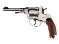 Gletcher NGT CO2 Pellet Revolver, Silver Air gun