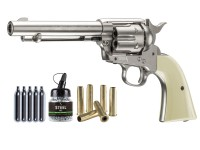 Colt Peacemaker SAA CO2 Revolver Kit, Nickel Air gun