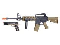 Colt M4 RIS & 1911 Spring Airsoft Kit, Black/Tan Airsoft gun