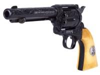 Engraved Duke Colt CO2 Pellet Revolver, Weathered Air gun