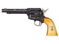 Engraved Duke Colt CO2 Pellet Revolver, Blued Air gun