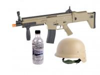 FN Herstal SCAR-L Spring Airsoft Rifle Kit, Tan Airsoft gun