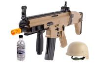 FN Herstal SCAR-L Spring Airsoft Rifle Kit, Tan