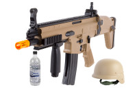 FN Herstal SCAR-L Spring Airsoft Rifle Kit, Tan