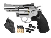 "Dan Wesson 2.5"" CO2 Pellet Revolver Kit, Silver"