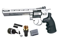 Dan Wesson 6 inch CO2 BB Revolver Kit, Silver Air gun