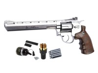 "Dan Wesson 8"" CO2 BB Revolver Kit, Silver"