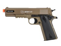 Cybergun Colt M1911A1 Spring Airsoft Pistol, Tan HPA Air rifle