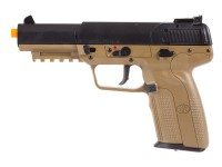 Cybergun FN Herstal Five-Seven CO2 Blowback Airsoft Pistol, Tan/Black Air gun