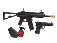 Crosman AREKT Elite Commado Airsoft Rifle & Pistol Kit, Blac Airsoft gun