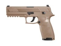 SIG Sauer P320 CO2 Pistol, Metal Slide, Coyote Tan