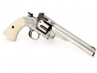 Texas Jack Schofield No. 3 Nickel BB Revolver Air gun