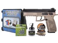 ASG CZ P-09 Duty CO2 Pistol, DT-FDE Kit Airsoft gun