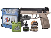 ASG CZ P-09 Duty CO2 Pistol, DT-FDE Kit Airsoft gun