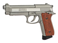 Swiss Arms SA92 CO2 Stainless Pistol, Brown Grips