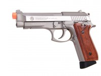Taurus PT92 CO2 Full Metal  Pistol, Silver/Wood