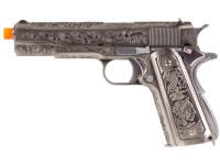 WE 1911 Silver Floral Pattern GBB Airsoft Pistol