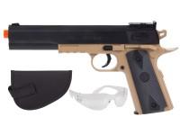 Colt 1911 Spring Airsoft Kit,  Black & Tan Airsoft gun