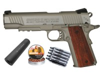 Swiss Arms SA 1911 TRS CO2 BB Pistol with Faux Suppressor, B