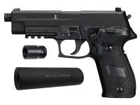 SIG Sauer P226 CO2 Pellet Pistol Suppressor Kit, Black Air gun