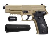 SIG Sauer P226 CO2 Pellet Pistol Suppressor Kit, Flat Dark E Air gun