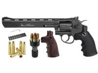 "Dan Wesson 8"" Dual Ammo, Dual Grip Revolver, Black"
