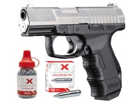 Walther CP99 Compact CO2 BB Air Pistol Kit, Nickel