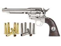 Dual Ammo Duke SAA Colt Peacemaker CO2 Revolver Kit, Nickel