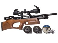 Kral Arms Puncher Breaker Silent Walnut Sidelever PCP Air Rifle Kit Air rifle