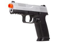 FN Herstal FNS-9 Spring Airsoft Pistol, 2-Tone Silver/Black