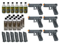 6 Umarex Elite Force Glock G17 Gen4 GBB Airsoft Pistol Kits Air gun