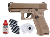 Glock 19X CO2 Blowback .177 BB Gun Kit, Tan
