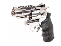 Black Ops Exterminator Metal .177 Revolver, Chrome