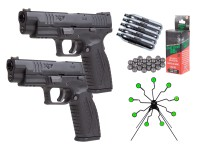 "Springfield Armory XDM 4.5"" .177 cal. 2 Person shooter Kit"