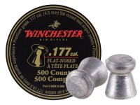 Winchester .177 Cal Pellets, 9.71 Grains, Flat Nose, 500ct