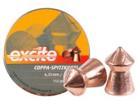 Haendler & Natermann H&N Excite Coppa-Spitzkugel Pellets, .25 Cal, 24.54 Grains, Pointed, 150ct