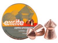 Haendler & Natermann H&N Excite Coppa-Spitzkugel Pellets, .25 Cal, 24.54 Grains, Pointed, 150ct