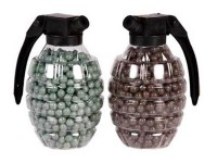 Crosman Marines Airsoft Hand Grenade Shaped BB Container,0.2g, 800 Rds Each, 2ct