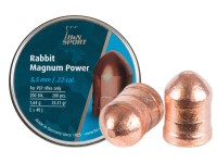 Haendler & Natermann H&N Rabbit Magnum Power Cylindrical Pellets, .22 Cal, 25.77 Grains, Copper-Plated, Round Nose, 200ct