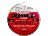 Predator International Predator Polymag Shorts, .22 Cal Pellets, 15.75 Grains, Pointed, 200ct