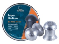 H&N Sniper Medium Pellets, .177 Cal, 8.5 Grains, Domed, 500ct