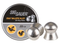 Sig Sauer Crux Ballistic Alloy Pellets, .22 Cal, 10.03 Grains, Domed, 200ct