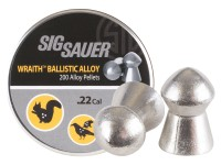 SIG Sauer Sig Sauer Wraith Ballistic Alloy Pellets, .22 Cal, 12.35 Grains, Domed, 200ct