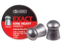 JSB Diabolo Exact King Heavy, .25 Cal, 33.95 Grains, Domed, 150ct